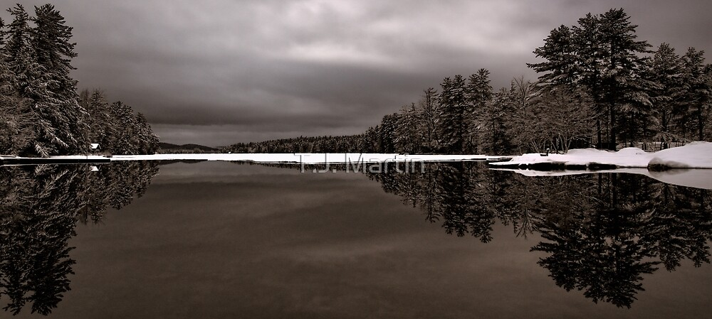 Reflection - Late Winter Morning on Highland Lake by T.J. Martin