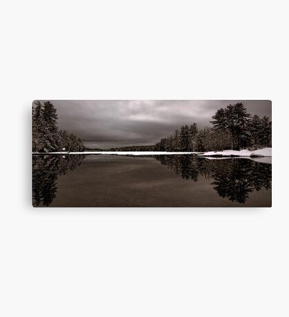 Reflection - Late Winter Morning on Highland Lake Canvas Print