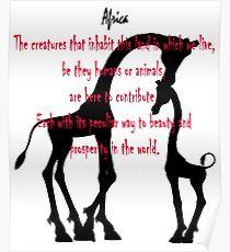 Giraffe, Giants of Africa - Funny T-shirt Poster