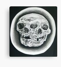 Oddity Skull Sketch Tattoo Flash Canvas Print