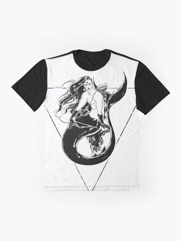 Alternate view of Black Mermaid - Sirena Negra Graphic T-Shirt