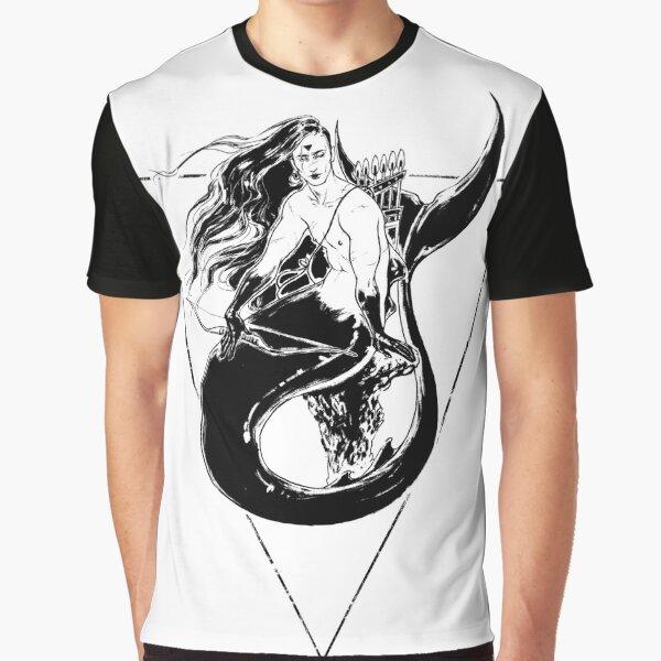 Black Mermaid - Sirena Negra Graphic T-Shirt