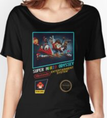 Odyssey NES Box Art - (Super Mario Odyssey) Women's Relaxed Fit T-Shirt
