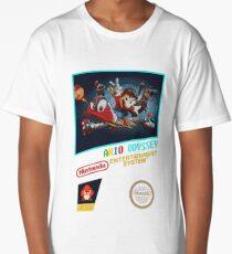 Odyssey NES Box Art - (Super Mario Odyssey) Long T-Shirt