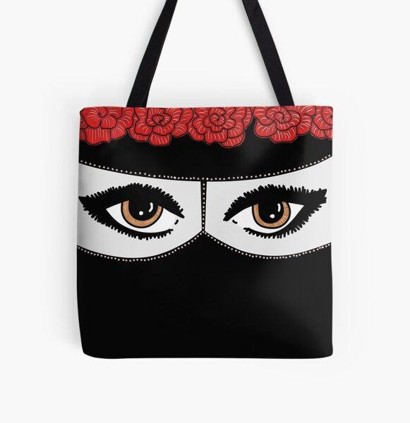 Niqabi avec fleurcrown Tote bag doublé
