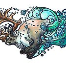 Arctic Jackolope by JDArtist