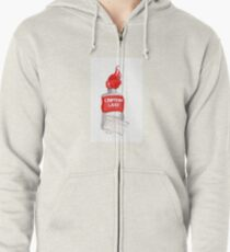 Crimson Lake Zipped Hoodie