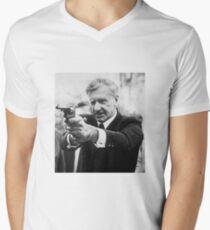 Ian Smith mit einer Pistole T-Shirt mit V-Ausschnitt für Männer