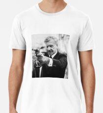 Ian Smith mit einer Pistole Männer Premium T-Shirts