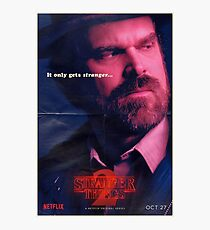 Chief Hopper Stranger Things Poster Photographic Print