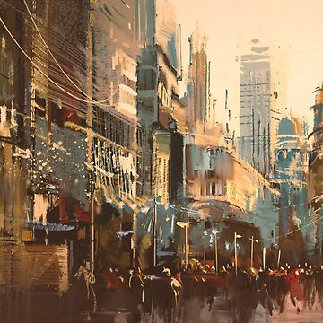 Digital Painting City Streets by bFred