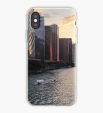 Chicago River Sunset, Illinois iPhone Case