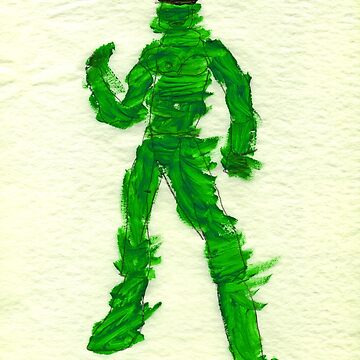 The Green Superhero by VincentGitto