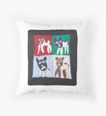 Cat by Jonathan Fortier Throw Pillow