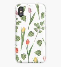 Tulips garden iPhone Case/Skin
