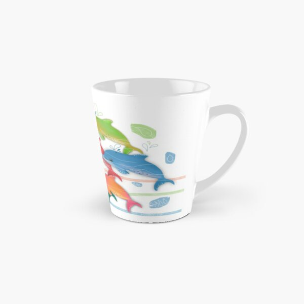 A Rainbow of Dolphins Tall Mug