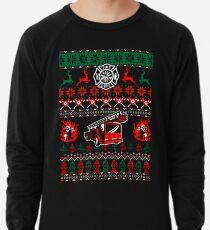 57055dc1856b7 Merry Firefighter Ugly Christmas Sweater Funny Tshirt Lightweight Sweatshirt