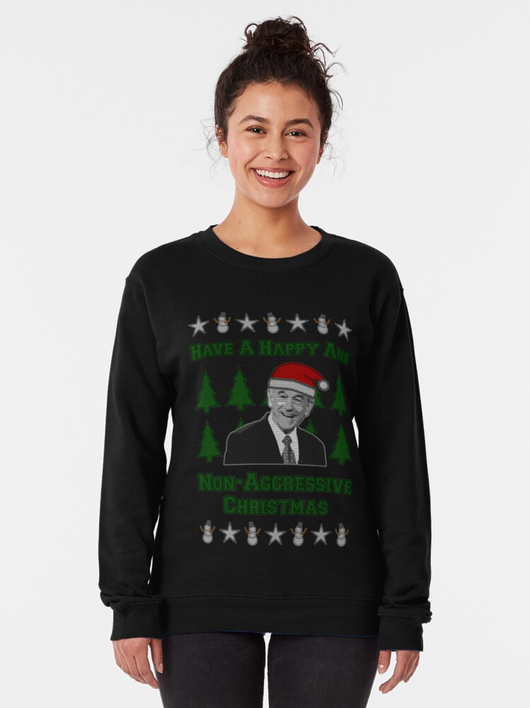 Ron Paul Christmas Sweater | Pullover Sweatshirt