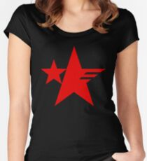Sonic Forces Resistance Emblem Star Red Women's Fitted Scoop T-Shirt