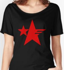 Sonic Forces Resistance Emblem Star Red Women's Relaxed Fit T-Shirt