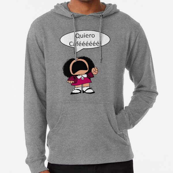 Mafalda, Café, Coffee Sudadera ligera con capucha