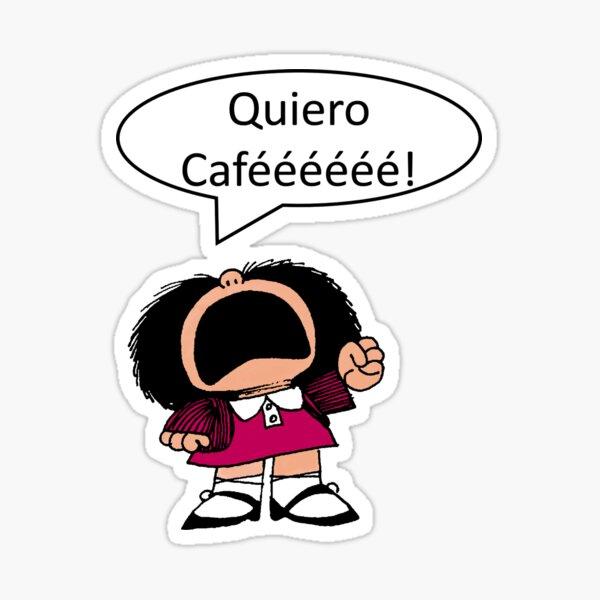 Mafalda, Café, Coffee Pegatina