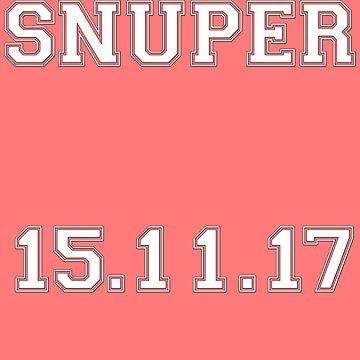 SNUPER DEBUT DATE VARSITY FONT by renkim28