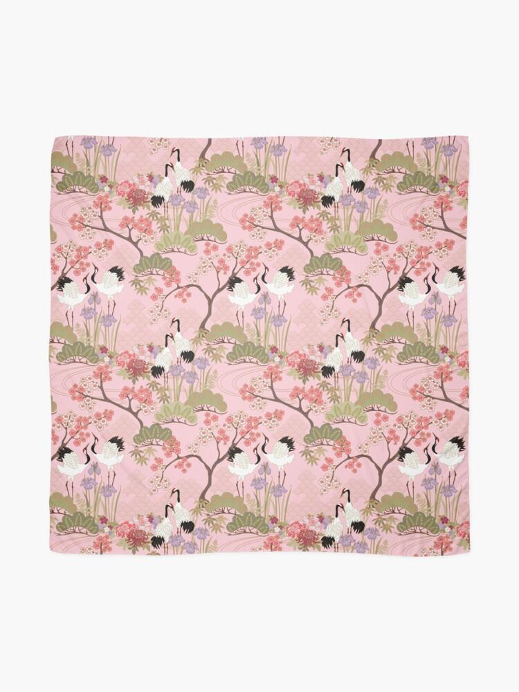 Alternate view of Japanese Garden in Pink Scarf