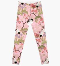 Japanese Garden in Pink Leggings