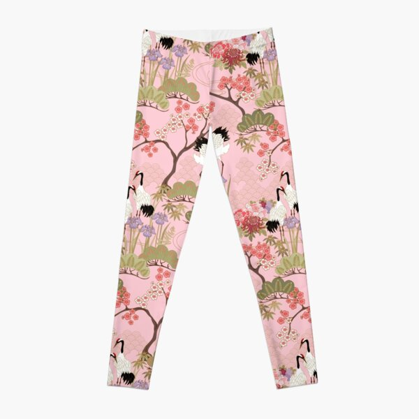 Japanese Garden in Pink Leggings