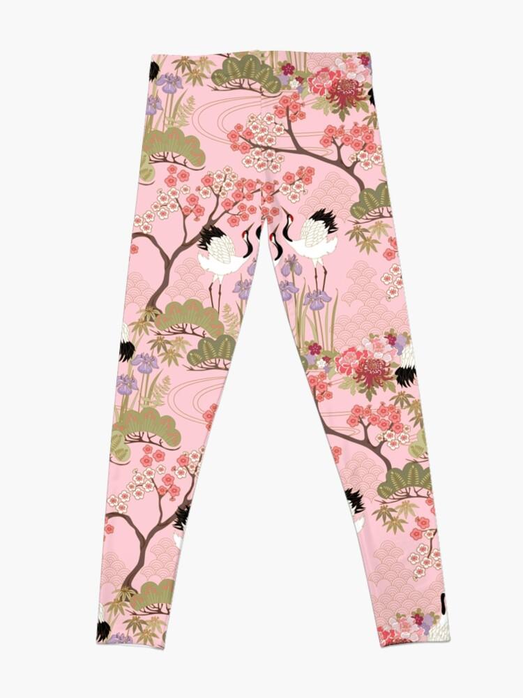 Alternate view of Japanese Garden in Pink Leggings
