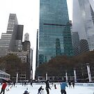 Skating Among the Skyscrapers, New York City  by lenspiro