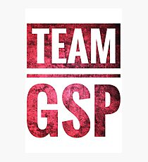 TEAM GSP (Red &White) Photographic Print