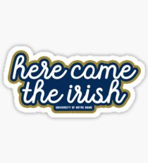 Here Comes The Irish - University of Notre Dame Sticker