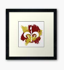 Watercolor Royal Symbol Framed Print