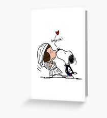 Snoopy Lucy Star Wars Greeting Card