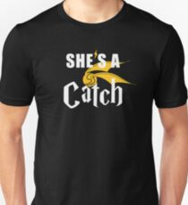 She's A Catch - Cute Couples Statement T-Shirt