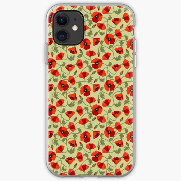 Poppies Red iPhone Soft Case