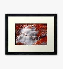 Autumn Waterfall I Framed Print
