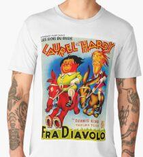 LAUREL & HARDY; Vintage Fra Diavolo Advertising Print Men's Premium T-Shirt