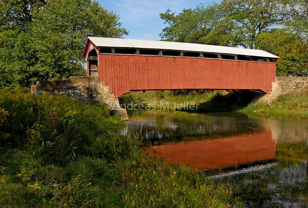 Covered Bridge, Pennsylvania by Andreas Mueller
