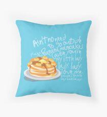 Banana Pancakes Throw Pillow