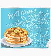 Banana Pancakes Poster