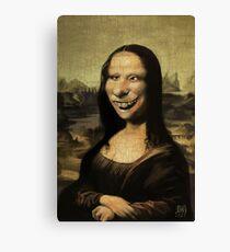The Mona Lisa needs braces Canvas Print