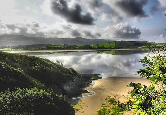 Portmeirion Beach, Wales by Angela Harburn