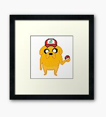 Poke-Jake Funny Adventure Time Mashup Framed Print