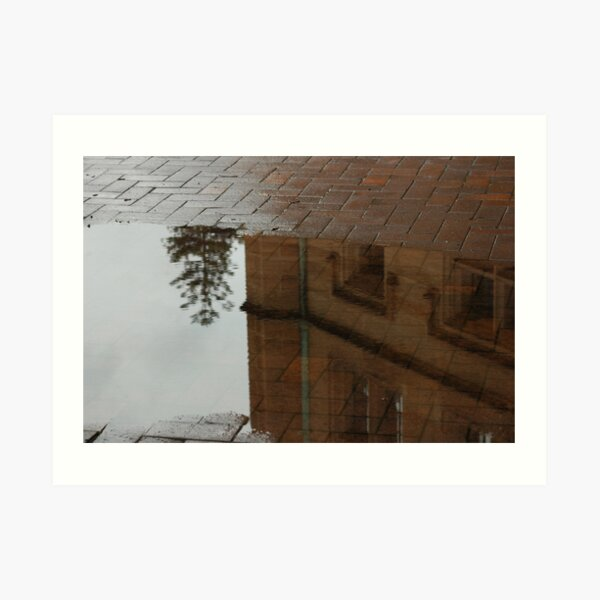 Puddle reflection in Sydney Art Print