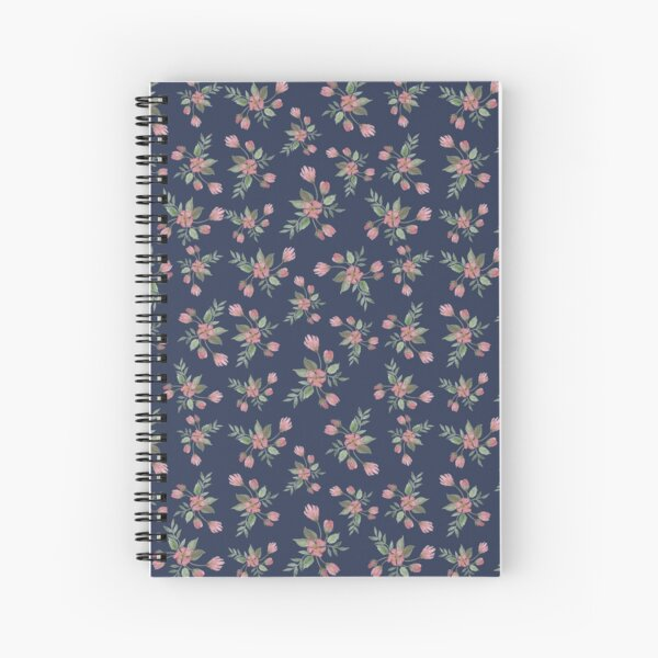 Red Watercolor Flowers Spiral Notebook