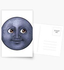 Mond Emoji Postkarten