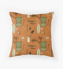 Retro Hawaiian - Vintage Hawaiian - Orange Throw Pillow